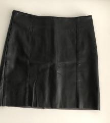 H&M crna suknja od umjetne kože