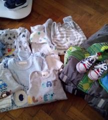 Lot robe za bebu dečka 56-68