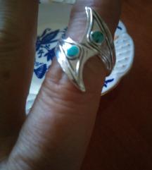 Turski nakit.. Prsten srebro i tirkiz