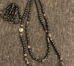Set nakit- lančić, ogrlica i naušnice