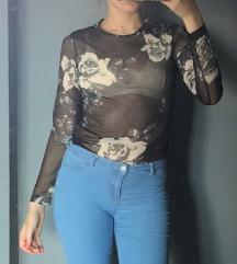 Prozirna majica na ruže