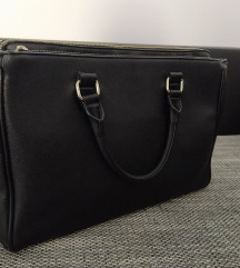 Zara crna office city bag poslovna torba