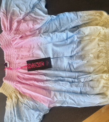 Pastelna majica spustenih ramena