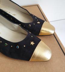 vintage kožne cipele/balerinke 37,5 / 38