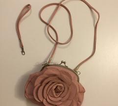 Prljavo roza mala elegantna torbica