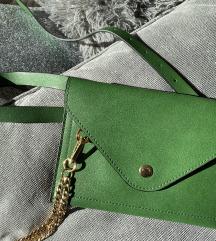 Zelena pismo torbica za oko struka