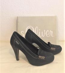 cipele crna mat koža s.Oliver