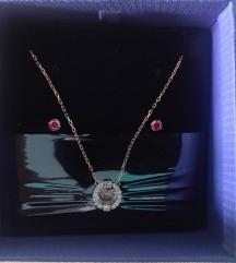 SWAROVSKI ogrlica i naušnice