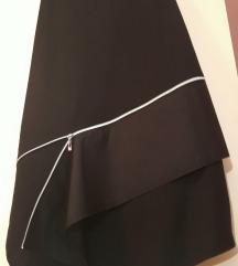 Nova crna asimetricna duga suknja