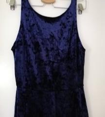 Velvet tamno plava haljina