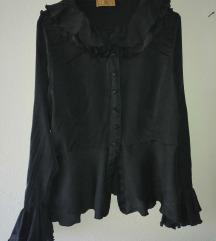 Crna bluza sa volanima