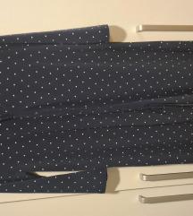 Plava tunika/haljina sa tockicama na kopcanje