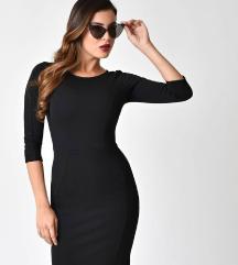 H&M crna haljina L