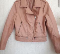 Baby roza kozna jakna XL