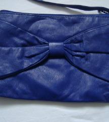 H&M kraljevsko plava torbica