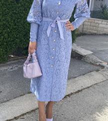 Plava čipkana haljina Gossip