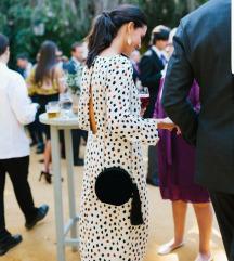 H&m točkasta haljina otvorenih leđa vel 36