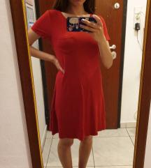 Crvena hollister T-shirt haljina vel. S