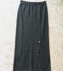 Siva maxi knit suknja vel S