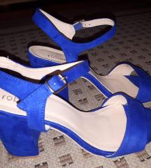 sandale br 40 blok peta kraljevsko plave