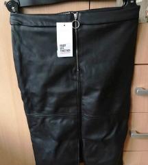 Prodajem crnu kožnu suknju, novu sa etiketom