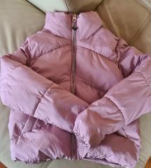 Topla roza podesiva puffer pufasta jakna