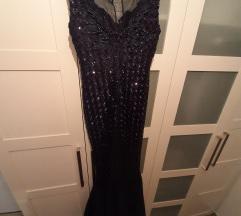 Svečana tamnoplava haljina