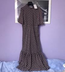 Zara midi haljina sa srcima S 36