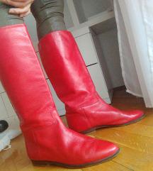 Crvene kožne čizme
