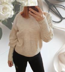 PRIMARK bež pulover- puf rukavi 🎀