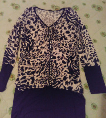 Animal print tunika,M -duža majica