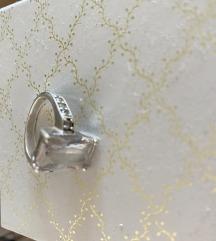 Prsten srebrni s cirkonima