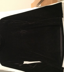 Plišana crna majica