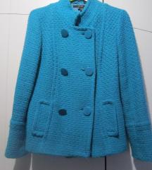 ZARA tirkizno plava jaknica-kaputić