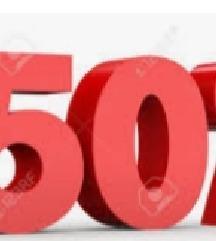 -50% na kupovinu tri i više artikala odjeće
