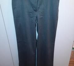 Zara hlače sive s prugama 42