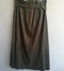 Mango suknja brušena koža M