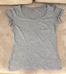 Siva majica kratkih rukava, S, kao novo, Montego