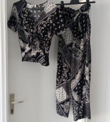 H&M komplet crno-bijeli
