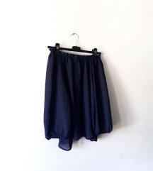 Tamnoplava bluza otvorenih ramena H&M