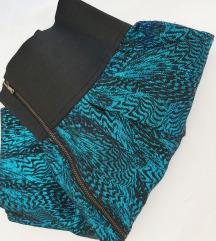 ZARA metalik jacquard suknja S/M