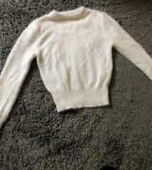 Zara bijeli crop pulover FW18 (pt uklj)