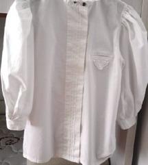 Bijela košulja - puf rukavi, pamuk, UNIKAT, 36