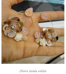 Alkice nausnice s cvijećem