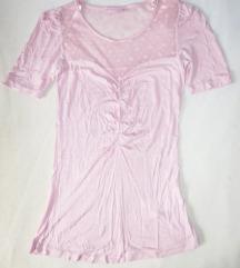 Nova roza majica s čipkom - %