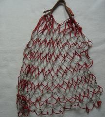 Retro mrežasta vreća torba
