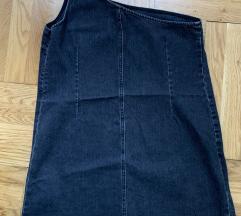 Jeans haljina na jedno rame