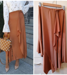 Zara asimetrična suknja s volanima S