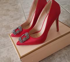 Wish crvene satenske cipele SNIŽENO 150 kn