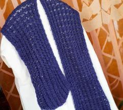 Ljubičasti pleteni šal 30x200 cm